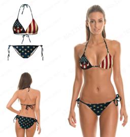Vintage USA Skull Flag Bikini