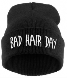 Beanie / Hat - Bad Hair Day - Black