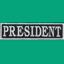 White PATCH - Flash / Stick - PRESIDENT