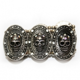 Skull bracelet with Some BlingBling