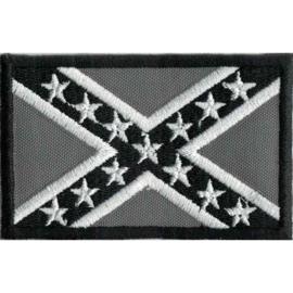 PATCH - GREY - REBEL FLAG