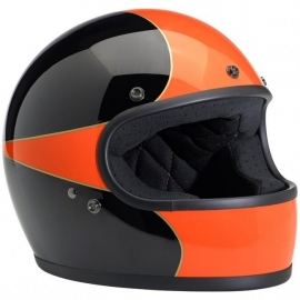 Biltwell INC - Gringo Full Face Helmet - DOT - Le Scallop [Black & Orange]
