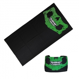 Motley Tube / Tunnel - Skull - Black & Green