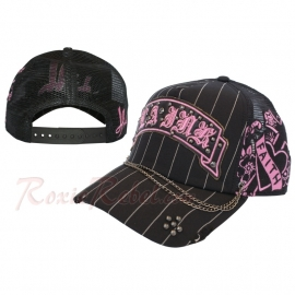 black  / pink Trucker Cap with Faith - LA Ink