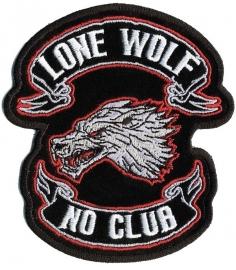 000 - BACKPATCH - Lone Wolf, No Club