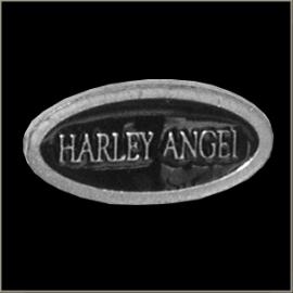 P188 - PIN - Metal Badge - Harley Angel