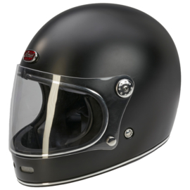 Barock - Retro Racer Full Face Helmet - Matt Black- ECE22.05