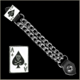 Vest Extender - Double Chain - Ace Of Spades