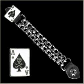 Vest Extender - Double Chain - Ace Of Spades