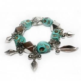 Lucky Charm bracelet with Big Skullies
