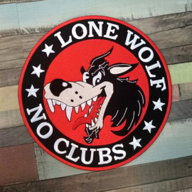 BACKPATCH - cartoon - LONE WOLF * NO CLUBS