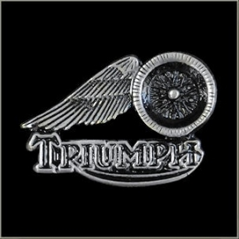 P173 - Large PIN - TRIUMPH with Winged Wheel