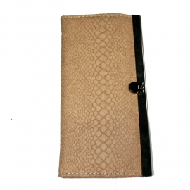 Wallet with Clip Closure - Sand Snake