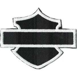 PATCH - HD -Plain BAR & SHIELD - WHITE