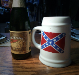 Beer Mug - Redneck - Rebel Flag