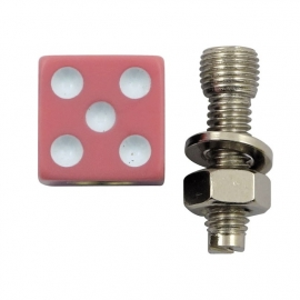 TrikTopz with License Plate Mounts - Valve Caps - Pink Dice