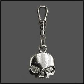 Zipper Pull - Half Skull
