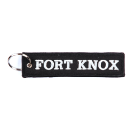 Embroided Keychain - Black & White - FORT KNOX