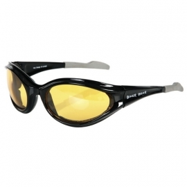 Yellow Biker Sunglasses with Wind Protection [yellow050] - 101 INC