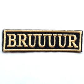 Golden PATCH - STICK -BRUUUUR - brother - broer