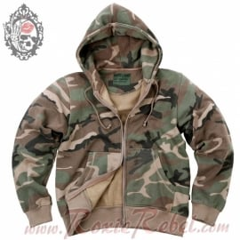 Kosumo - Hoodie with Zipper - Woodland Camouflage