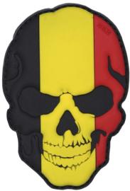 368 - VELCRO/PVC PATCH - Belgian Skull - Belgium - België - Belgique