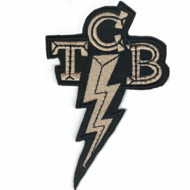 golden PATCH - [small] Lightning bolt  TCB - TAKING CARE of BUSINESS