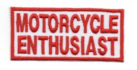 PATCH - Red & White - Motorcycle Enthusiast