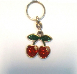 Metal Keychain - BlingBling - Shiny Cherry