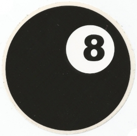 Eightball - 8 - DECAL - STICKER
