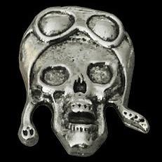 P153 - Large PIN - Aviator Skull