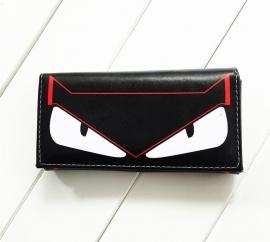 Wallet - Trifold - Black - Cartoon Face