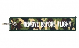 Embroided Keychain - Woodland Camouflage - REMOVE BEFORE FLIGHT