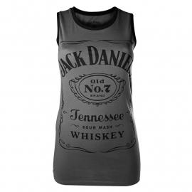 Jack Daniel's - Tank Top / Racer Top - Original Big Classic Logo - Charcoal