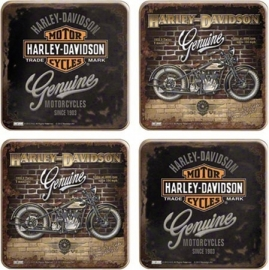 Harley-Davidson - Genuine - Coaster Set (4p)