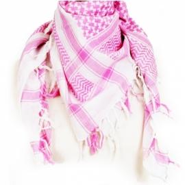 PLO Scarf -  Arafat Shawl - Pink & White