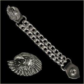 Vest Extender - Double Chain - Eagle Head