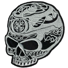 pearl PATCH - Skull with celtic knots