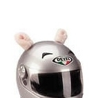 Pink Pig Ears & curly tail (for your motorcycle helmet)