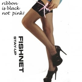 Fishnet with Black Lace & Corset Detail - Overknee Thights