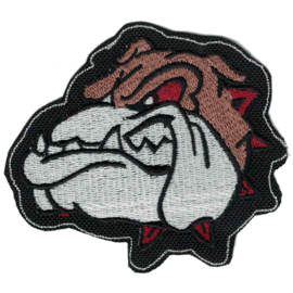 PATCH - Bulldog with red eyes and spikes