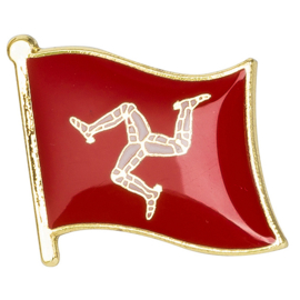 PIN - Waving Flag - Isle of Man - TT - Motorraces