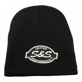 S&S Proven Performance - Black Beanie with Black/White Logo