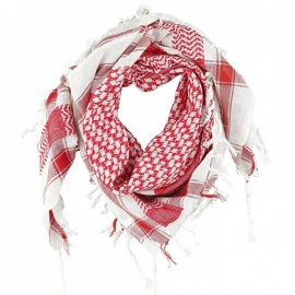 PLO Scarf - Arafat Shawl - Red & White