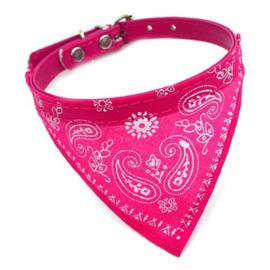 Pet Collar - Bandana - Pink / Fuchsia Paisley