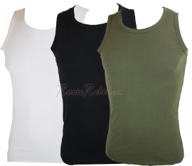Military Singlet - Marcel - Tank/Racer Top - 3 Colours