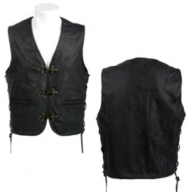 Extreme - Leather Vest with Hooks and Side Laces