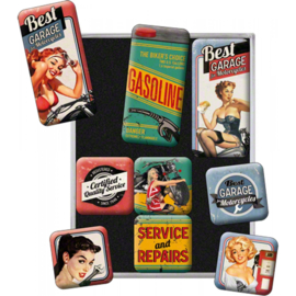 Gasoline - Magnet Set - Garage & Pin Up