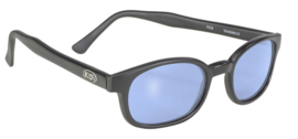 Original KD's - Sunglasses - Matte Black Frame - LIGHT BLUE