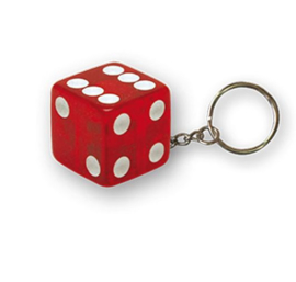 TrikTopz - Keychain - Clear Red Dice